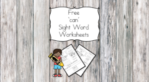 Can Sight Word Worksheets -for preschool, kindergarten, or first grade - Build sight word fluency with these interactive sight word worksheets