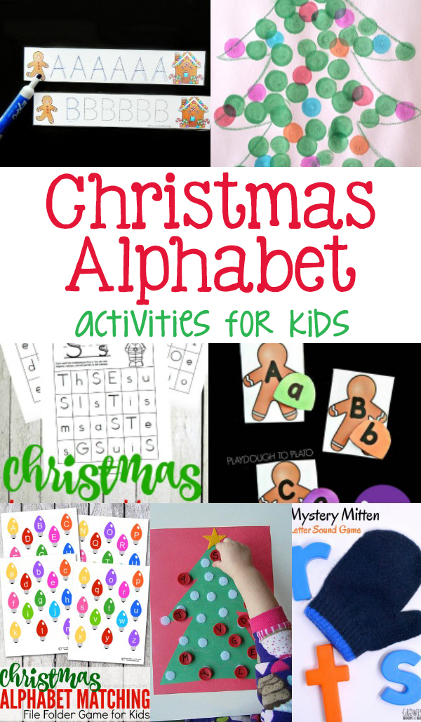 Christmas Alphabet Activities for preschool or kindergarten - make learning fun this holiday season.