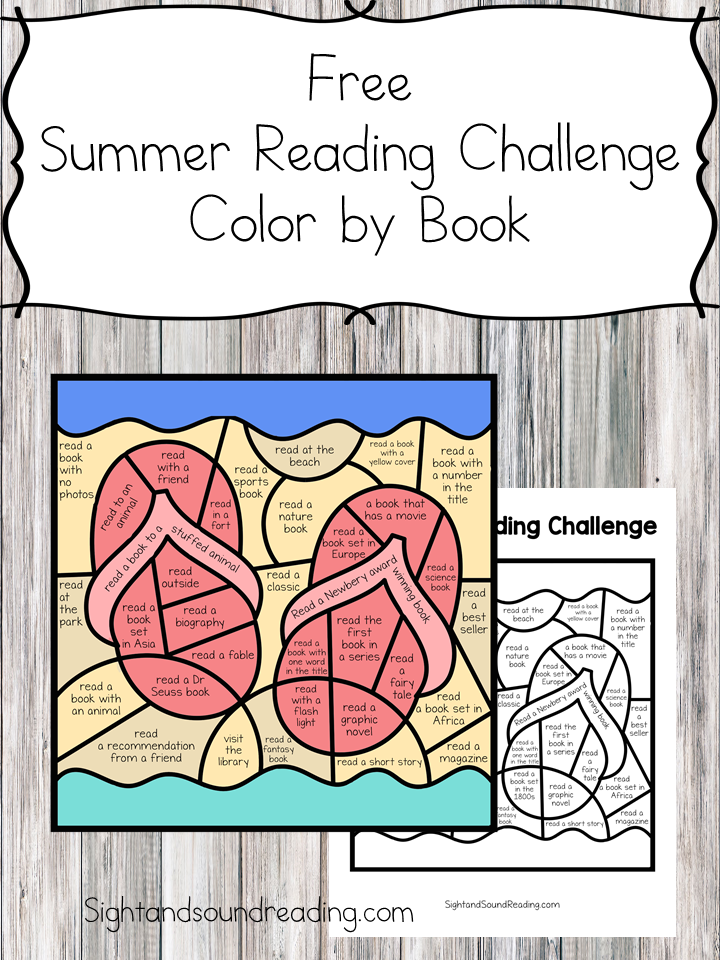 Summer Reading Log Challenge: Color by Book