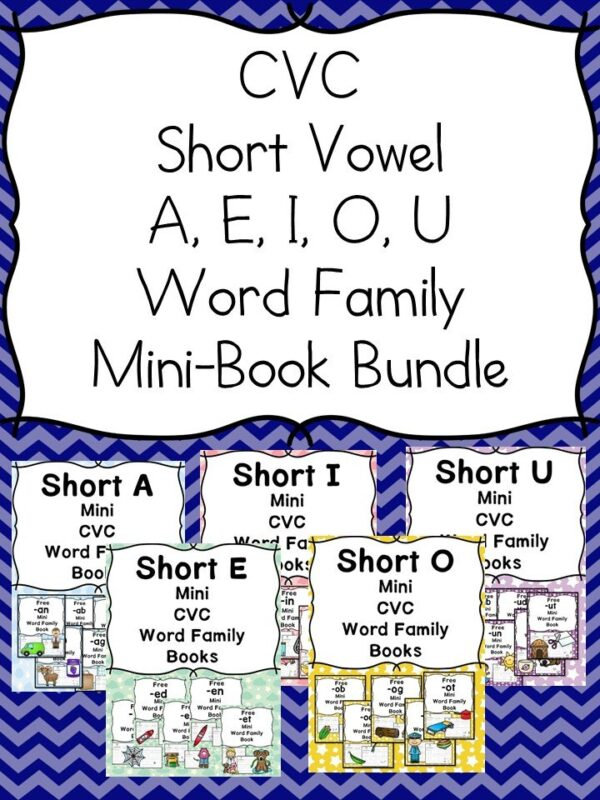 IG CVC Word Family Worksheets -Make a word family book!