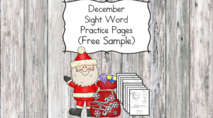 December Sight Word Practice Pages ...with turkeys and squirrels. Great for preschool or Kindergarten.