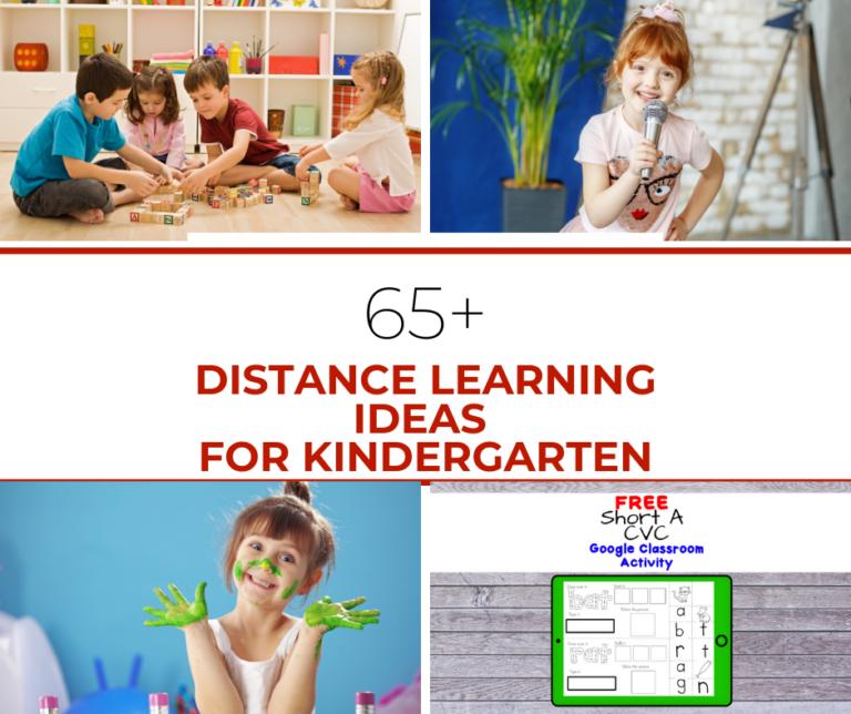 Distance Learning Resources for Kindergarten