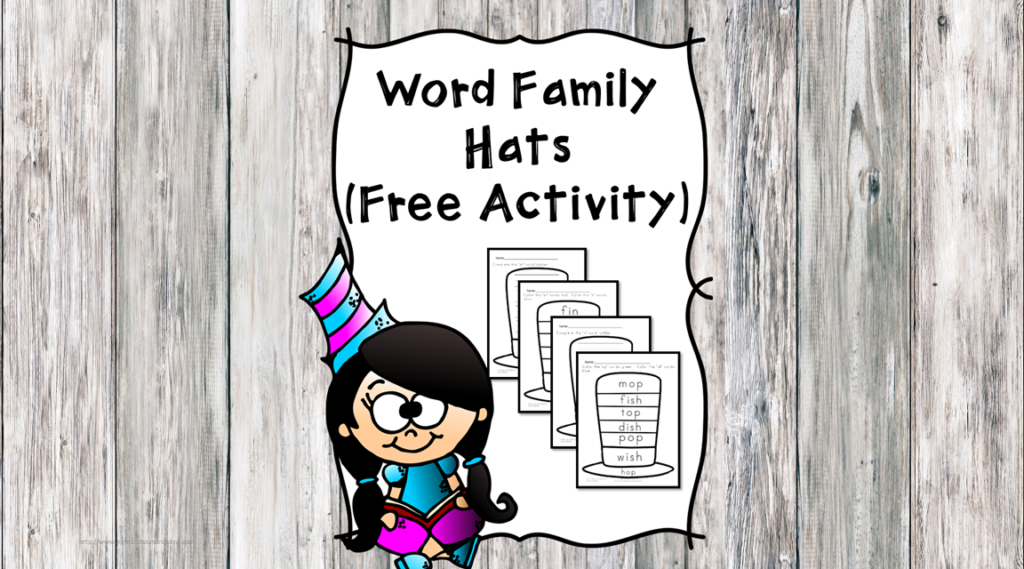 Word Family Hats inspired by Dr. Seuss