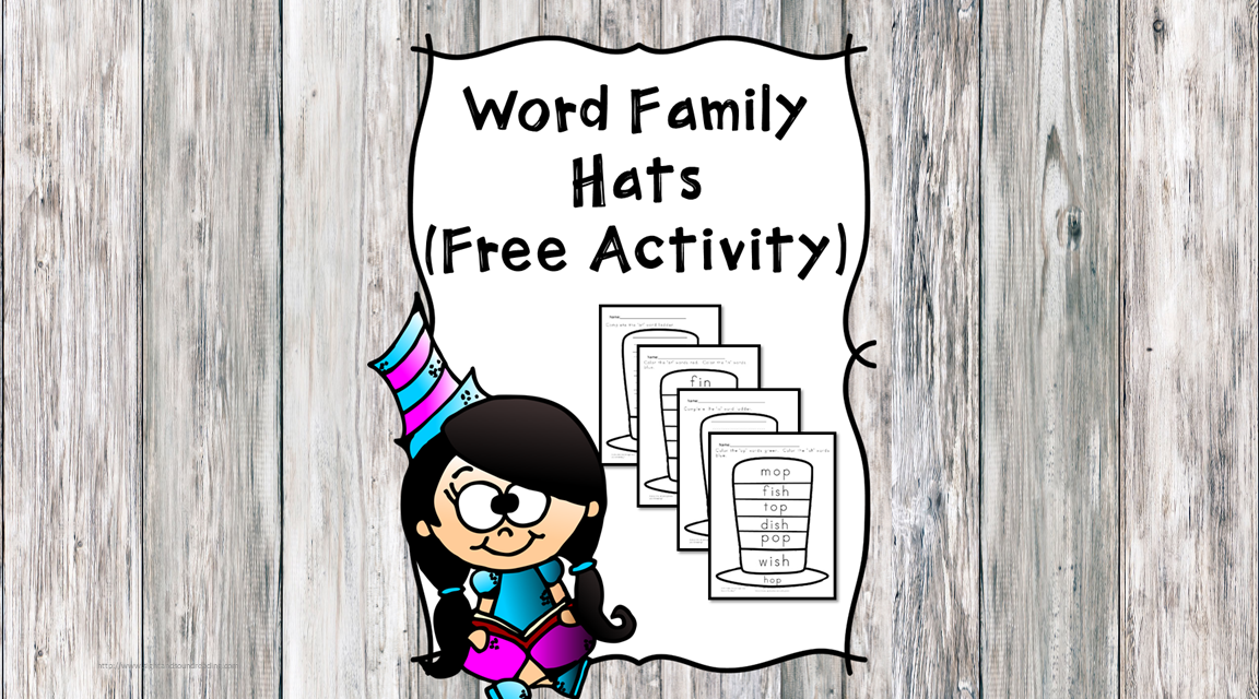 Dr Seuss Word Family Hat - Fun free worksheets for kindergarten!