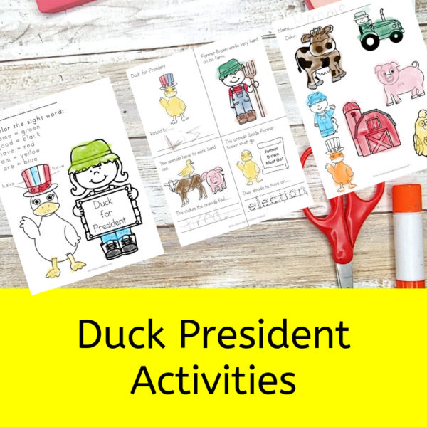 Duck for President Activities for Kindergarten