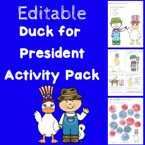 Editable Duck for President Pack
