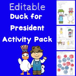 Editable Duck for President Pack