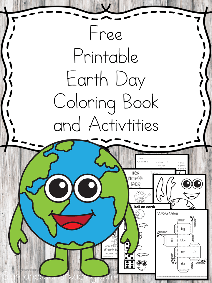Awesome Earth Day Printable Coloring Book for Kids to learn about Earth Day!