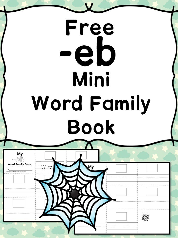 Teach the eb word family using these eb cvc word family worksheets. Students make a mini-book with different words that end in 'eb'. Cut/Paste/Tracing Fun