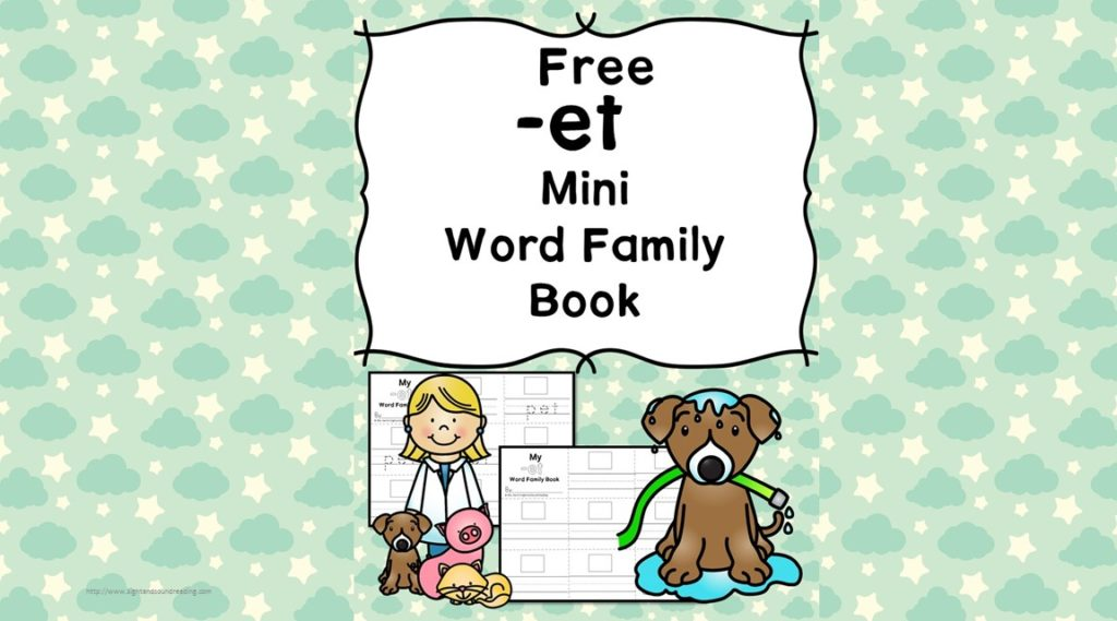Teach the et word family using these et cvc word family worksheets. Students make a mini-book with different words that end in 'et'. Cut/Paste/Tracing Fun