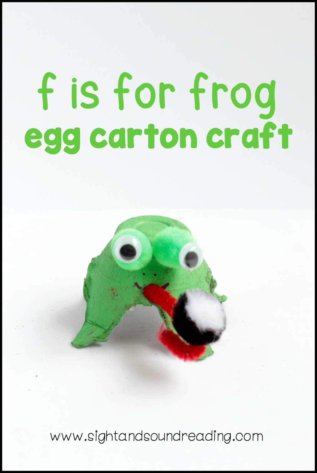 letter f craft to make frog egg carton craft is a fun way to help teach