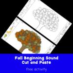 Fall Cut and Paste Beginning Sound Fun!