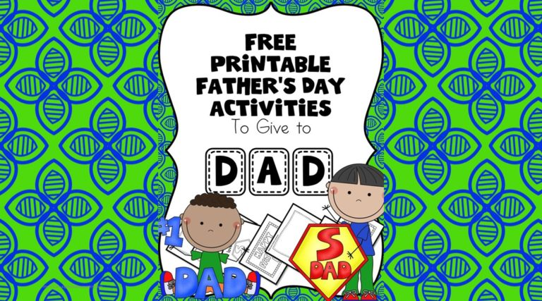 Free Father's Day Worksheets for Beginning Readers