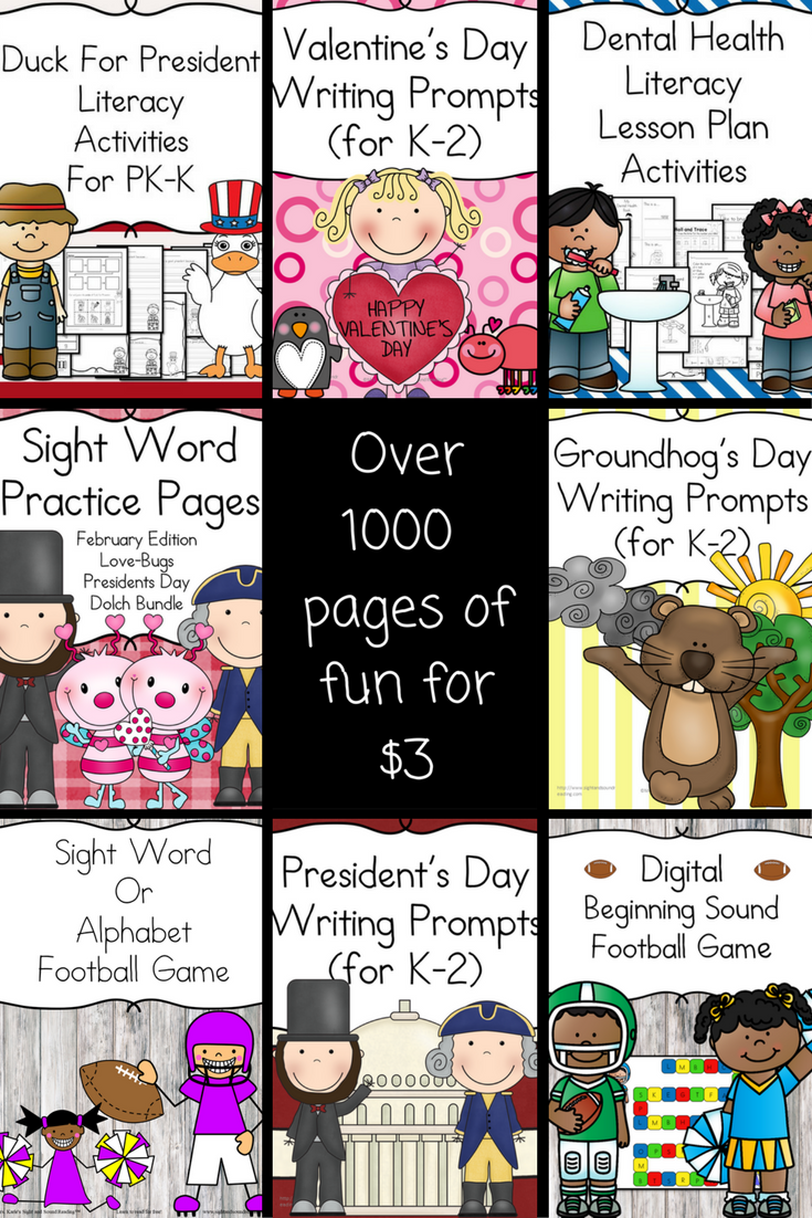 February Literacy Bundle -$3 option