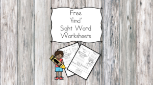 find Sight Word Worksheets -for preschool, kindergarten, or first grade - Build sight word fluency with these interactive sight word worksheets