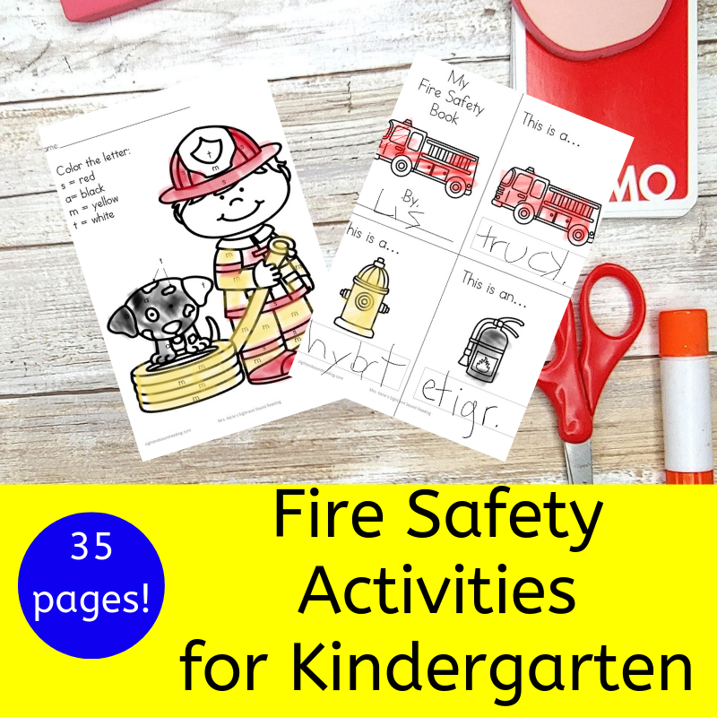 Fire Safety Activities for Kindergarten