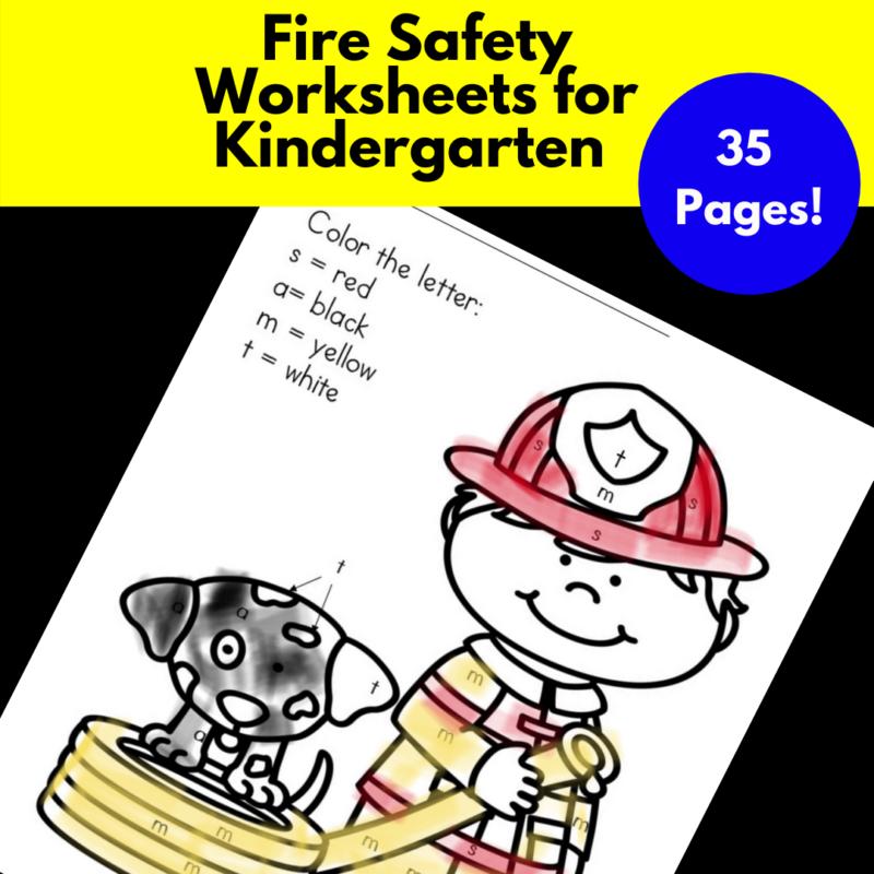 Fire Safety Worksheets for Kindergarten