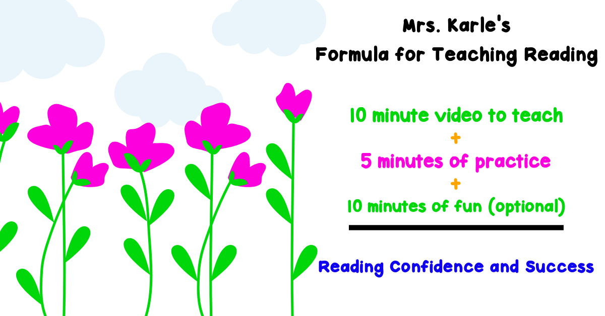 Formula for teaching reading