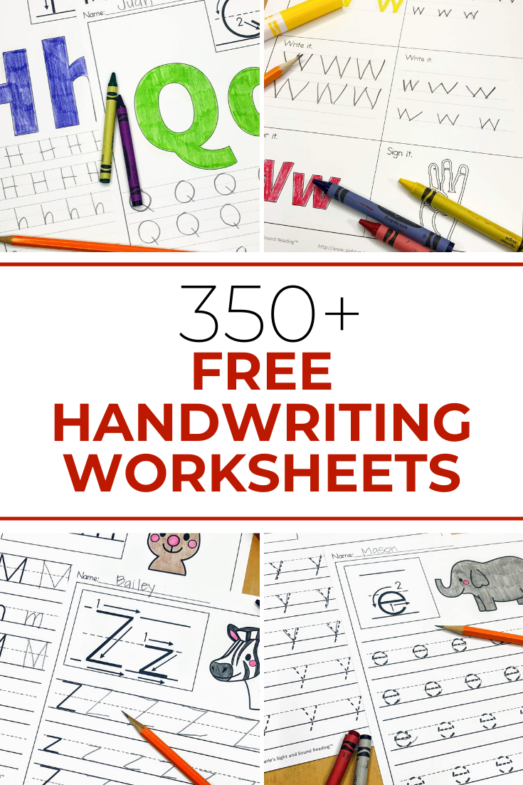 Free handwriting Worksheets - Over 350 worksheets to download