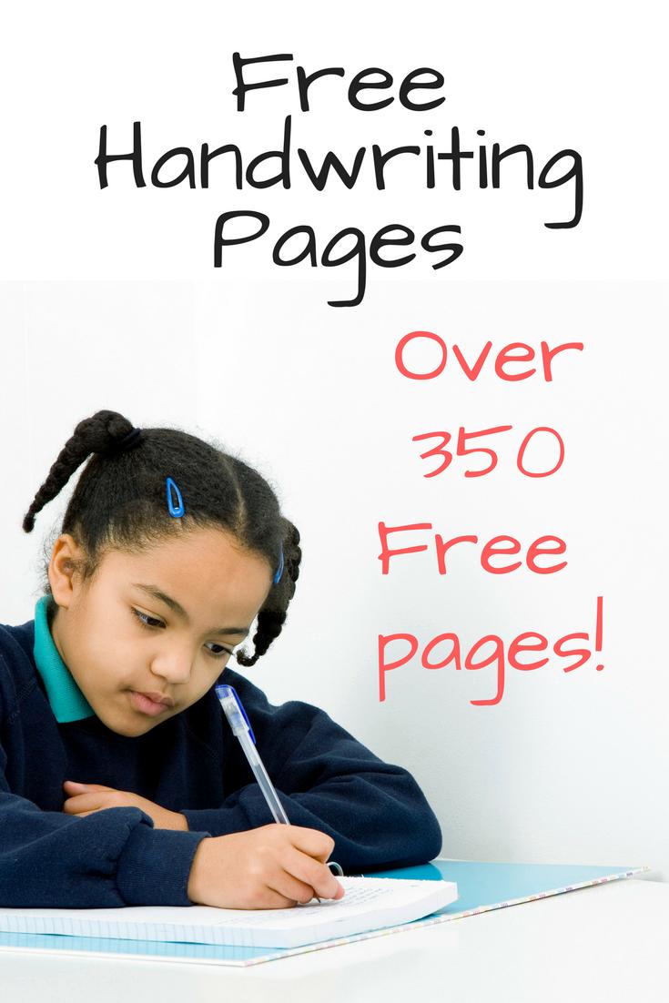 26 Free Printable Handwriting Worksheets for Kids-Easy ...