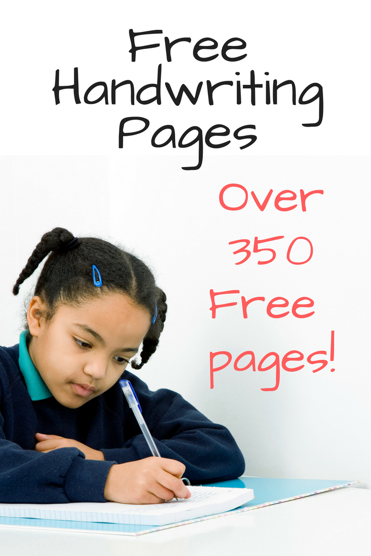 350 Free Handwriting Worksheets For Kids