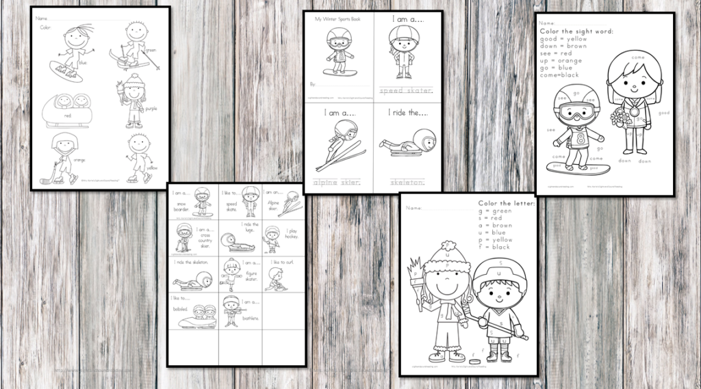 Free Winter Sports Coloring Pages - from Skiiing to skeleton, these coloring pages will help teach winter sports to little people.