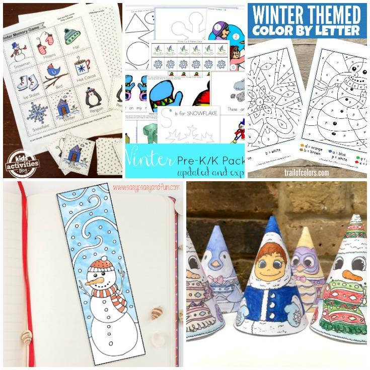 Free Winter Worksheets for Kids