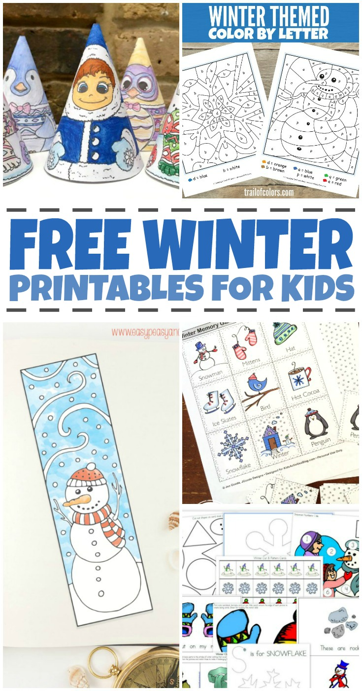 We've rounded up all kinds of free winter worksheets for kids, both educational and just for fun to keep your little one smiling this winter.