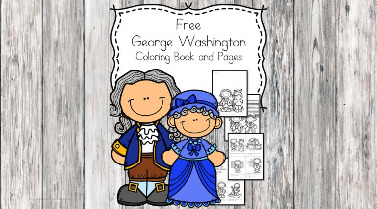 Four Free George Washington Kindergarten Worksheets