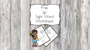 go Sight Word Worksheets -for preschool, kindergarten, or first grade - Build sight word fluency with these interactive sight word worksheets