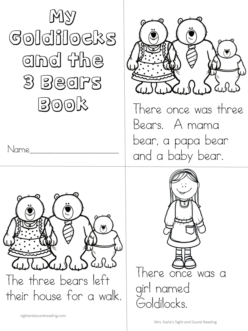Goldilocks and the 3 Bears Activities and Readers Theater