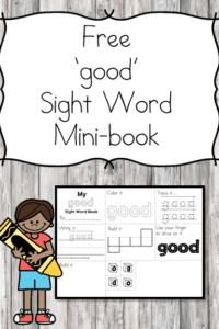 Sight Word Mini fluency book