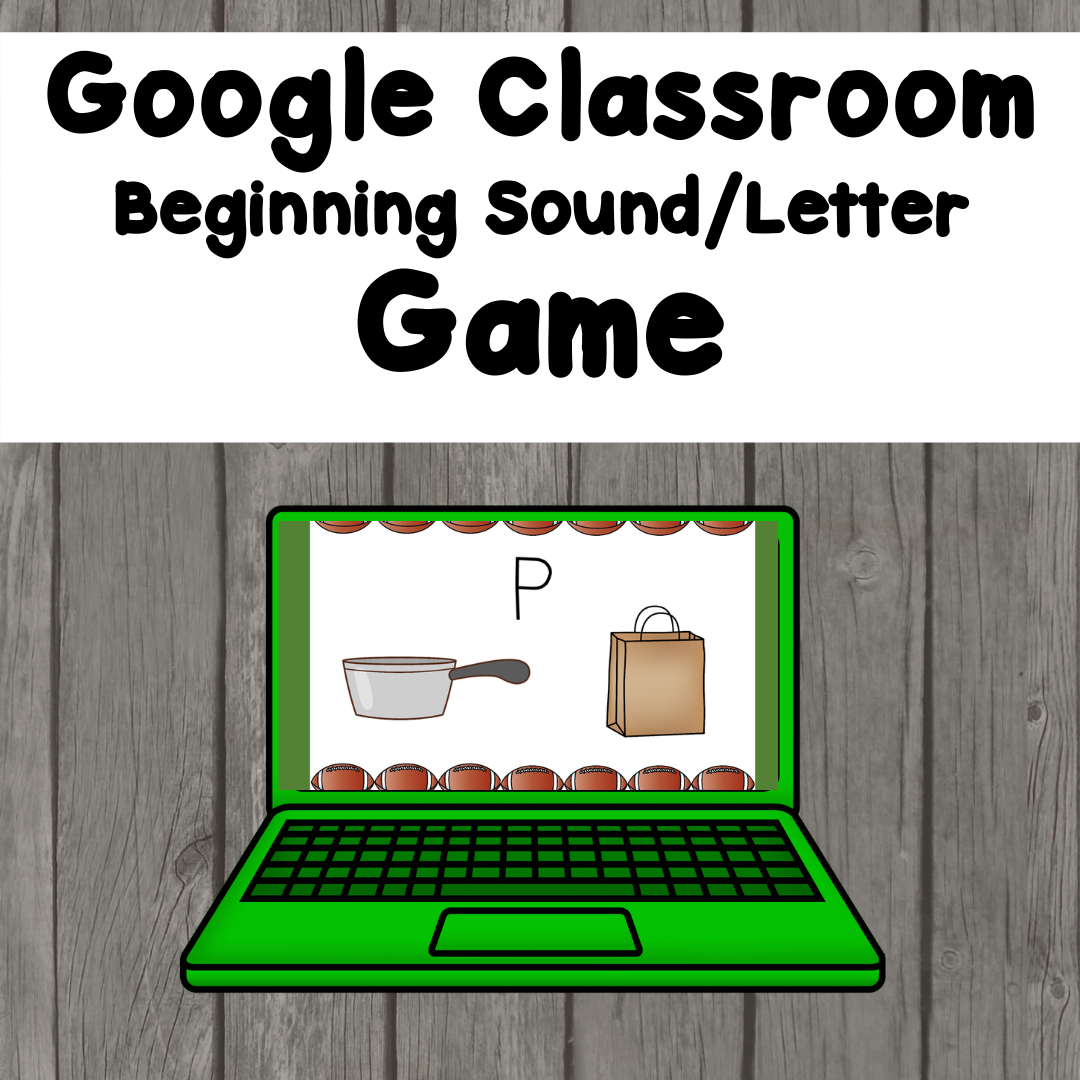 Beginning Sound Distance Learning game