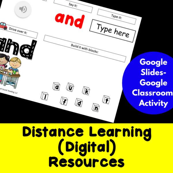 Google Classroom Sight Word Activities