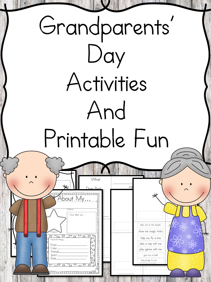 Grandparents Day Activities- Fun Grandparents Day Activities to help celebrate with Grandma/Grandpa or Grandfriend....great for preschool or Kindergarten!