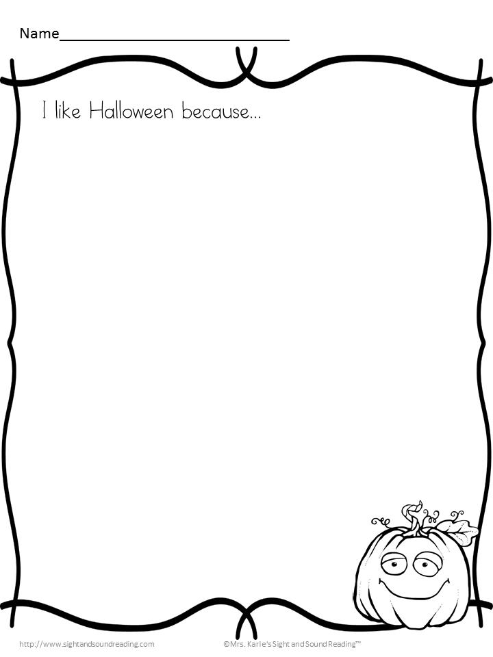 Kindergarten Halloween Writing Prompts