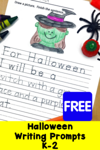 Halloween Writing Prompts for Kindergarten