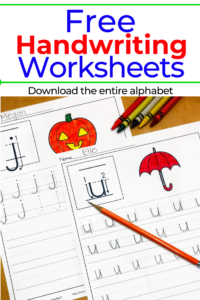 Handwriting Practice For Kids Worksheets