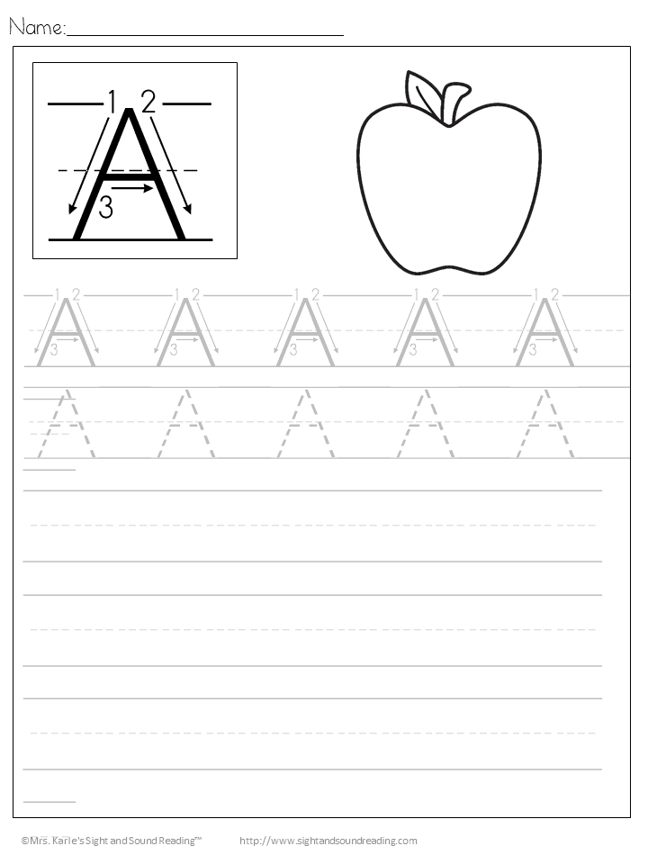 Handwriting Worksheets free printable: Download the entire alphabet at one time and help your child learn to write for free!