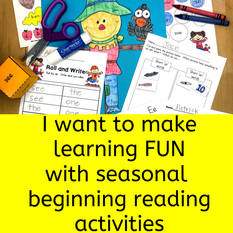 Want to find fun beginning reading seasonal activities