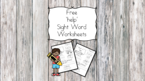 help Sight Word Worksheets -for preschool, kindergarten, or first grade - Build sight word fluency with these interactive sight word worksheets