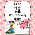 Teach the ig word family using these ig cvc word family worksheets. Students make a mini-book with different words that end in 'ig'. Cut/Paste/Tracing Fun