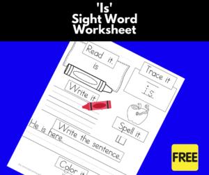 Is Sight Word Worksheet