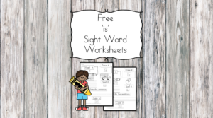 is Sight Word Worksheets -for preschool, kindergarten, or first grade - Build sight word fluency with these interactive sight word worksheets