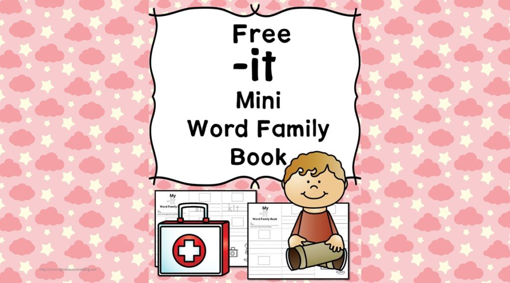 Teach the it word family using these it cvc word family worksheets. Students make a mini-book with different words that end in 'it'. Cut/Paste/Tracing Fun