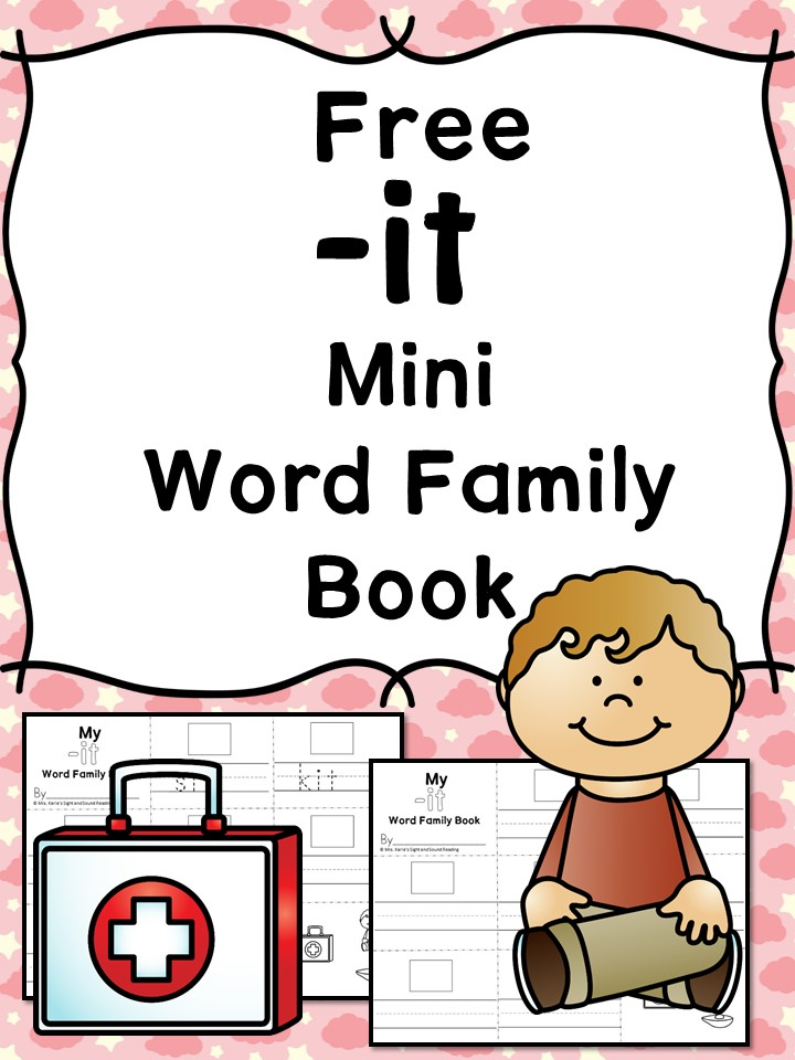 It Cvc Word Family Worksheets Make A Word Family Book