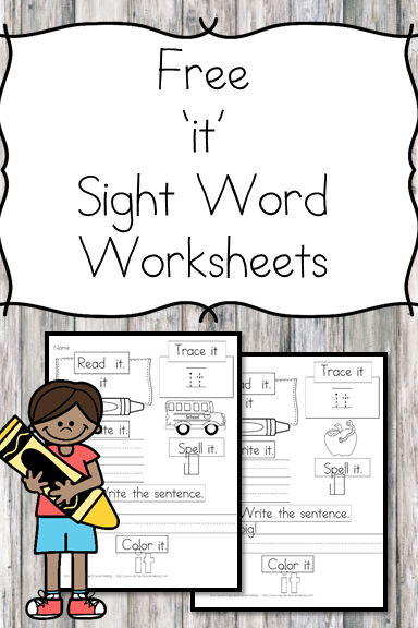 graphic relating to Printable Sight Word Worksheets identify It\u201d Sight Phrase Printable No cost and Very simple Down load!