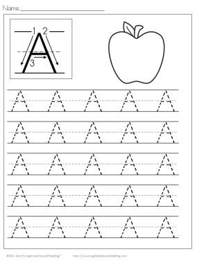 Kids Handwriting Worksheets