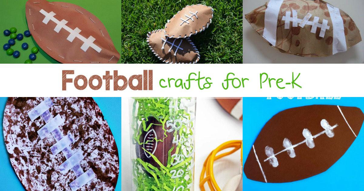 Kindergarten football crafts for Football crafts for preschoolers