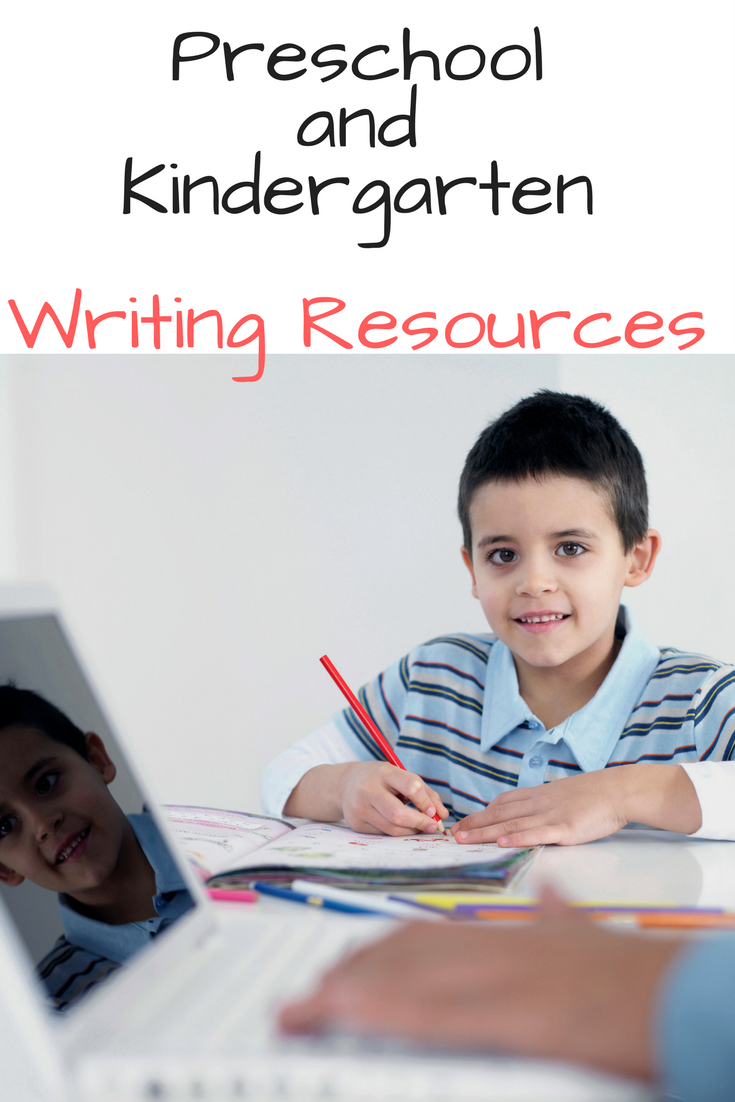 Preschool and Kindergarten Writing Resources -Printable Handwriting Workseet and Writing Prompts to make learning to write fun